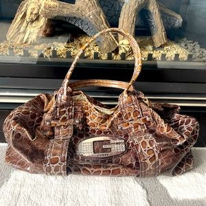 Guess Brown Synthetic Bag